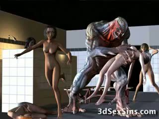 Aliens bang 3d meisjes!