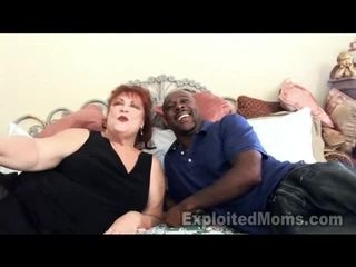 Nenek receives bawdy cleft pounded oleh besar hitam kontol