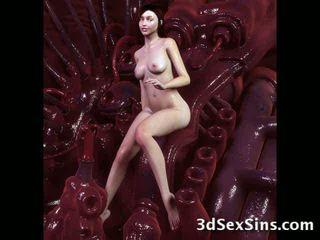 Monsters σπέρμα επί 3d babes! βίντεο