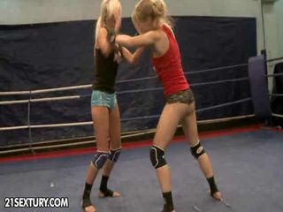 NudeFightClub Presents Laura Crystal Vs Michelle Moist
