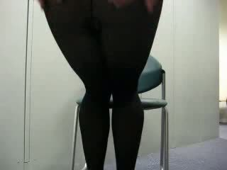 Hitam pantyhose goncang