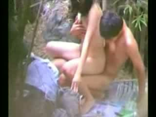Asian Schoolgirl Fucked In A Bushes Video