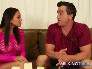 Adrianna luna strokes a big jago under the table