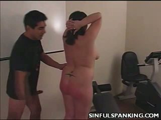 Spanked tombul arse