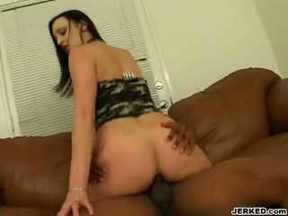Small titted deja daire rides her pink twat on a jago like a cowgadis