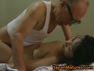 Hot Asian Babe Has Mature Sex