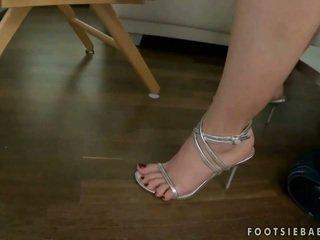 blowjob, high heels, foot fetish