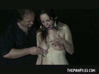 Ekstrēms adata mokas no amatieri slavegirl beau