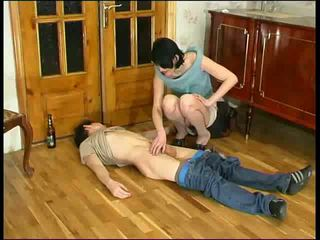 Russian Horny Mature and drunk man Video