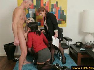 Senhora dominação festa dar homem um cocksuck