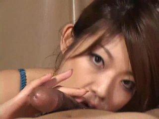 Gorgeous Asian girl Reiko Yabuki gives a cock a great blowjob Video