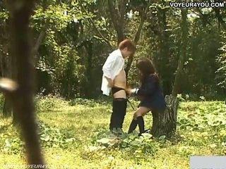 옥외 정원 일 씨발 여학생