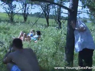 Hot sunbathing and fucking foursome