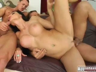 Aletta ocean pleasures two lucky guys