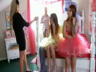 Kelly madison ひよこ fidelity 4つの いくつかの グループ ポルノの スター prom 夜 雛 グループ