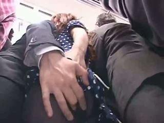 Officelady manoseada en un tren