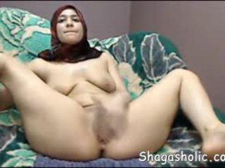 Arab נערה masturbates ב web מצלמת -