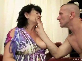 Chubby hairy granny gets fucked
