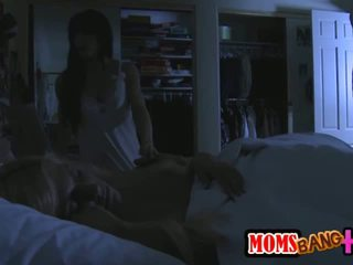 Horny Milf Sneaks in the Night to Fuck a Teen