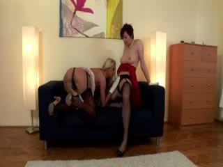 Amateur stockings lesbians eat pussy