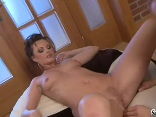 Sexy Floozy Sandra Sanchez Acquires A Nice Rub On Her Pink Mink Until She Hits Orgasm