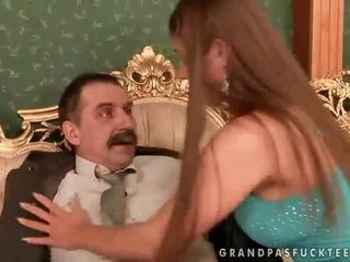 Cathy Heaven enjoys sex with grandpa