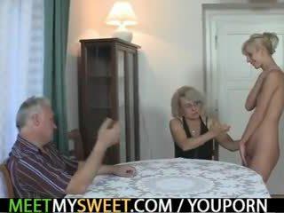 古い, ユーロ, 3some, おばあちゃん