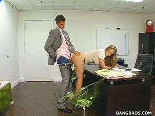 Boss takes advantage of his sex porn & attract round assistant