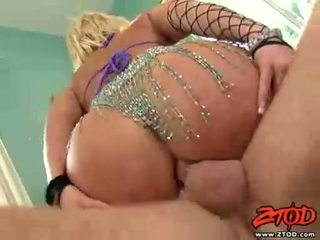 Breasty ブロンド georgia peach gets asspounded と gets a 乱雑な ザーメン