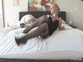 Katey Inside Nylons And Heels