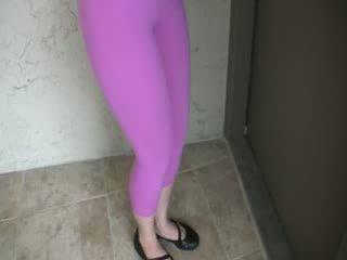 Wetting αυτήν λαμπερός/ή spandex-girlfriend pants