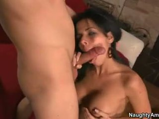 Lovely Brunette DiAmond Kitty Eagerly Takes A Long Penis In This Boyr Juicy Mouth