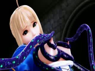 3D cartoon alien tentacle