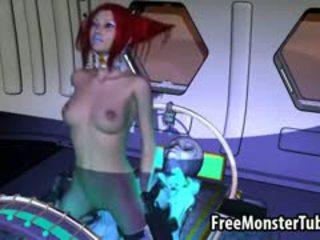 Hot 3D Redhead Babe Sucks And Fucks A Horny Alien