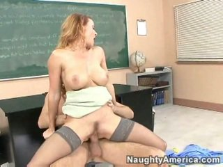 Professor Janet Mason fucks her pussy boy
