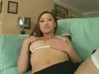 Tia Tanaka Sucks On Big Black Cock