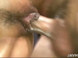Oiled up asian getting her pussy banged