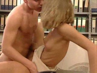 German very hot office sex. Beautiful hottie