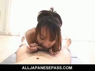 Sweet Japanese Honey Ai Yumemi Titty Fucks Her Mans Hard