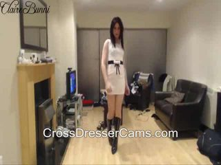 hq brunette, ideal crossdresser, you solo see
