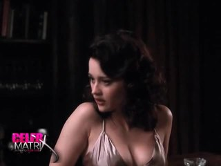 Robin Tunney Of The Craft Fame Wearing The Neglige And Exhibiting Some Nice CLeAvage As She Sits Reading And Then Gets Up To Talk To A Guy For The WHile. From MontAna.