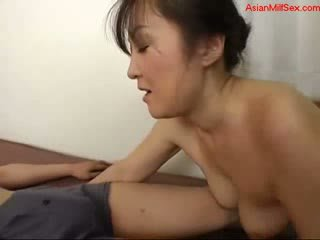 Busty Milf Rubbing Cock With Tits Licked While Giving Handjob Cum To Hands On The Bed