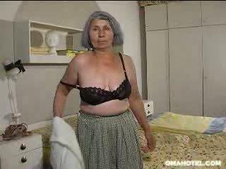 senas, vyresnis, močiutė, juostelė