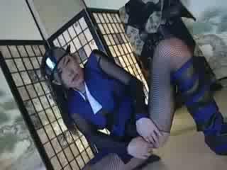 solo ninja japanese babe masturbates Video