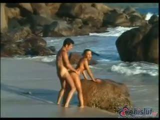 doggystyle ताजा, सह, समुद्र तट