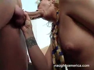 Lustful Katie Gold Swallowing Giant Thick Hard Penis