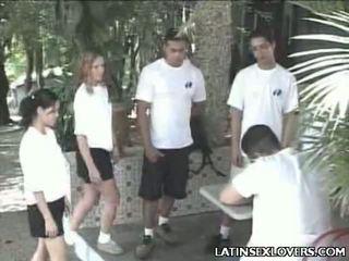Panas latin perempuan remaja tegar penghentaman