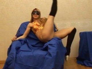 Flexible Russian girl doing herself