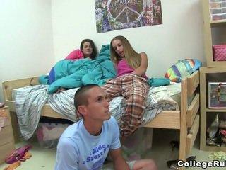 brunett, coed, college