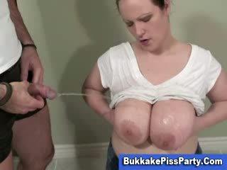Pissing bukkake facial shower prostitute